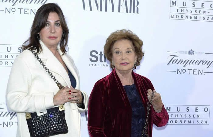 Carmen Martínez-Bordiú y su madre, Carmen Franco, en octubre de 2014. WireImage