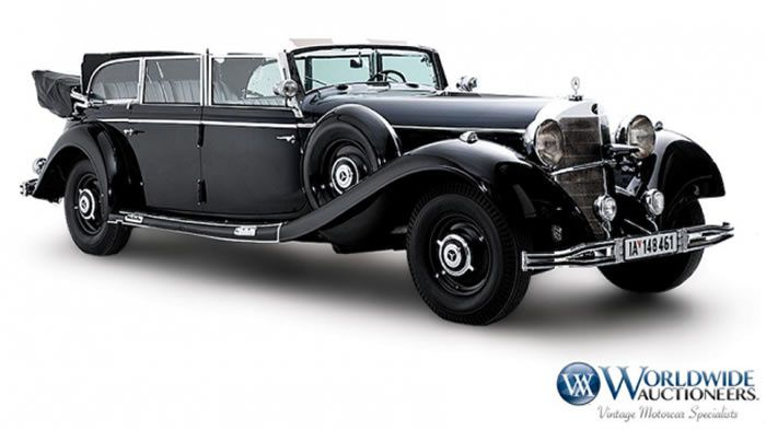 Hitler's 1939 Mercedes-Benz heads to auction