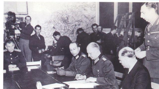 Signature de l'Armistice à Reims