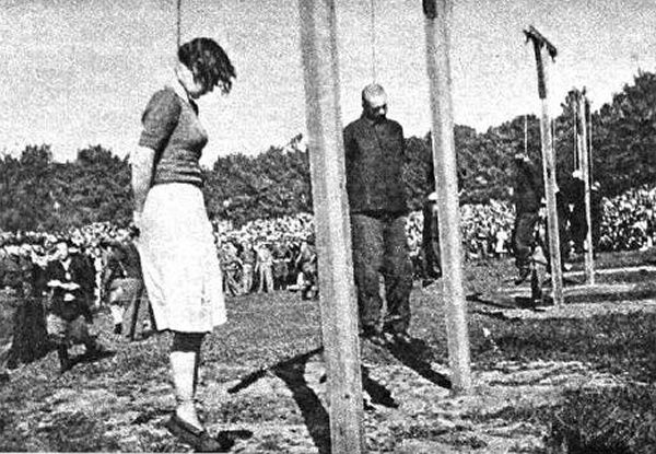 Gerda Steinhoff (left) and Johann Pauls after their executions on 4 July 1946