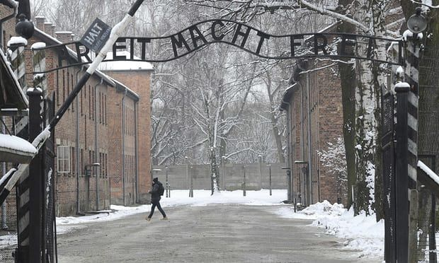 The entrance to Auschwitz in Poland. The US said the proposed legislation could undermine free speech. Photograph: Alik Kęplicz/AP