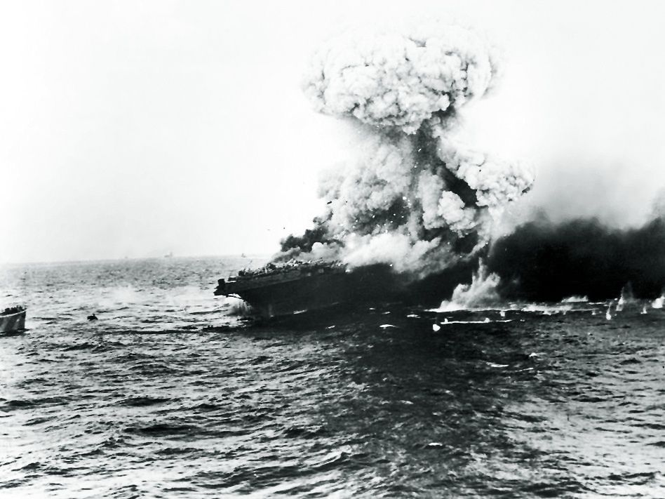 L'explosion de l'USS Lexington