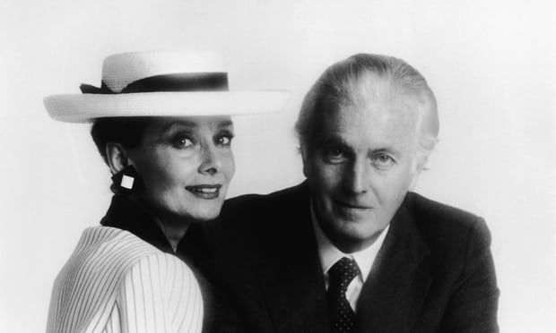 Hubert de Givenchy with Audrey Hepburn in the 1980s. Photograph: Hulton Archive/Getty Images