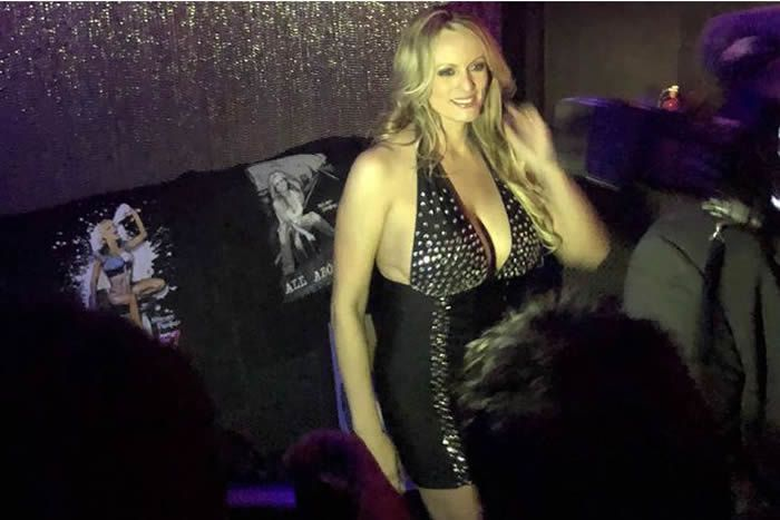 Stormy Daniels au stripclub Gossip, en banlieue de New York. Olivier O'Mahony