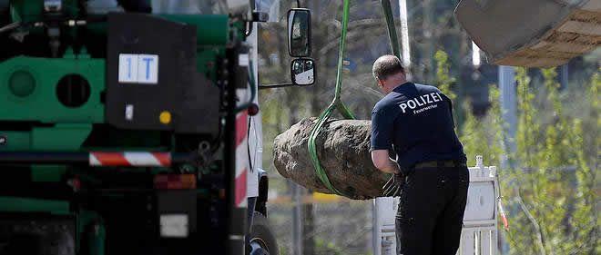 « La bombe de 500 kilos, qui n'a pas explosé à l'époque, fait environ 110 centimètres sur 45. C'est donc un objet assez imposant qui pourrait faire beaucoup de dégâts dans la ville » a expliqué un porte-parole de la police. AFP/ Britta Pedersen