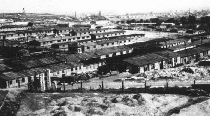 Le camp de concentration nazi de Plaszow, près de Cracovie, en Pologne