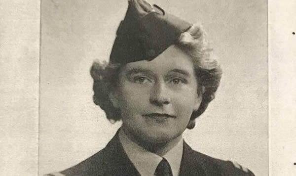 JUST A GIRL: Mary in her younger days flying Spitfires
