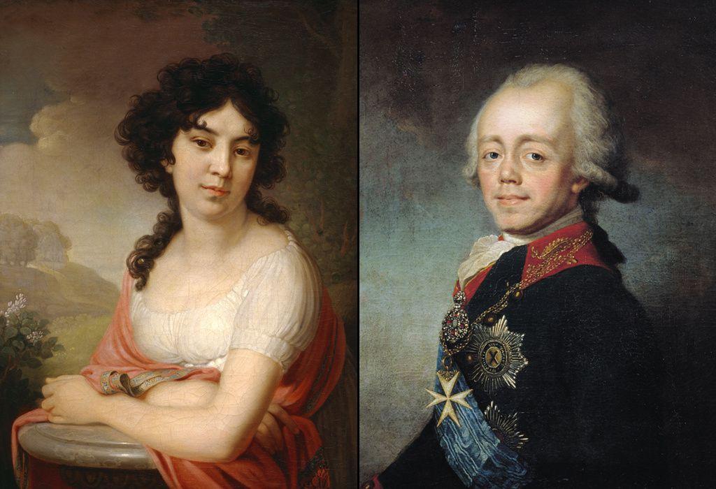 Paul Ier et Anna Lopoukhina. Vladimir Borovikovsky, Stepan Shchukin