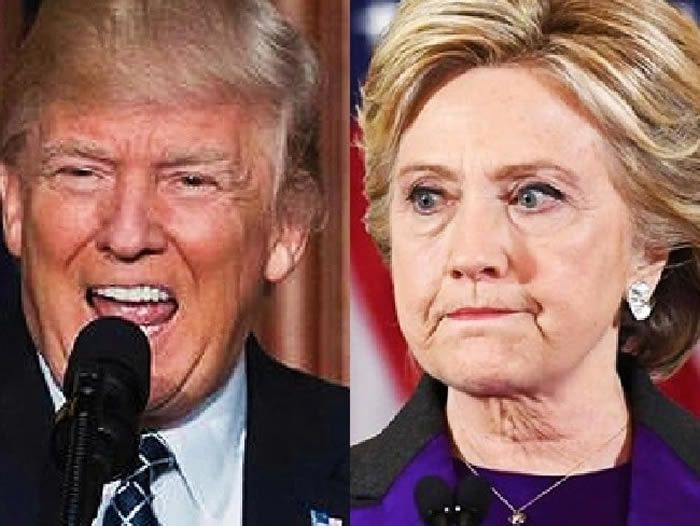 Donald Trump accused Hillary Clinton of taking money from Russia during the 2016 Presidential campaign. Picture: AFPSource:Supplied