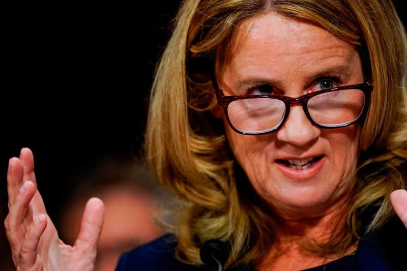 'We've formed a massive, roaring sisterhood of scar tissue, and we are all in that room with Christine Blasey Ford.' Photograph: Melina Mara/AFP/Getty Images