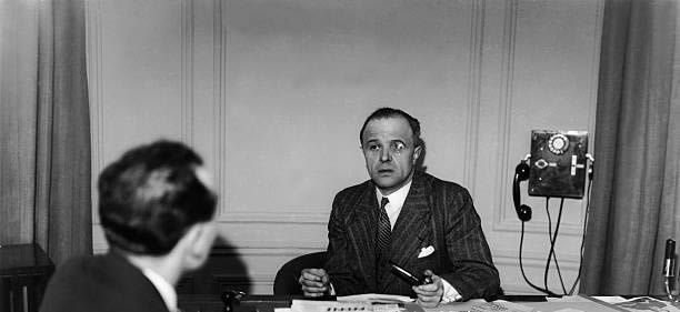 Gestapo Chief Heydrich Confers with French Commissar for Jewish Affairs