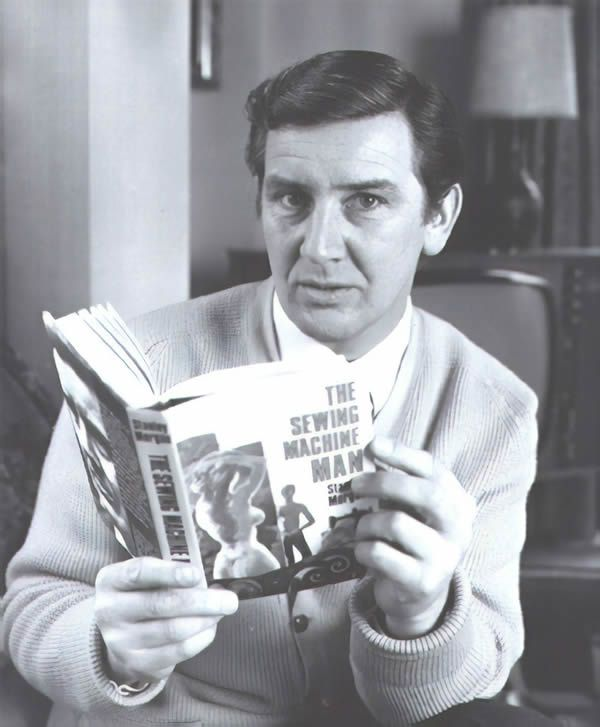 Stanley Morgan with his book The Sewing Machine Man, 1968