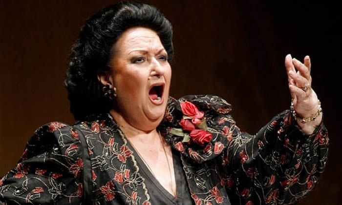 Montserrat Caballé on stage in Santander, northern Spain, in 2006. Photograph: Victor Fraile/Reuters