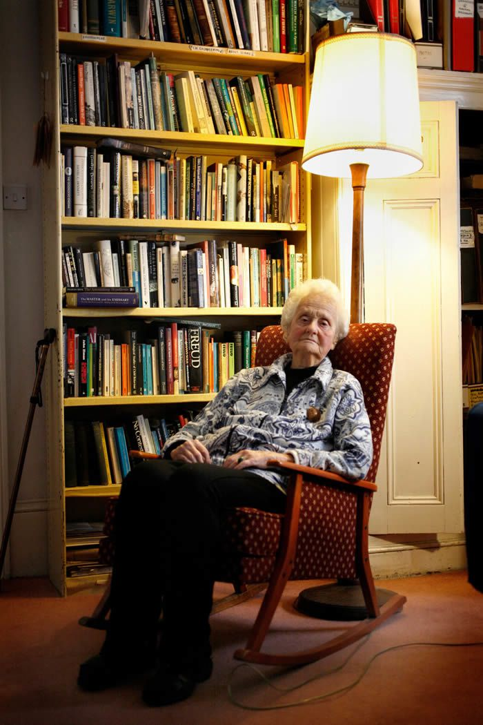 Mary Midgley at home in Newcastle, 2014. Photograph: Gary Calton for the Observer