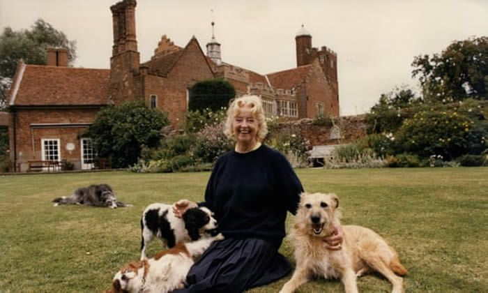 Evelyn Anthony at her home, Horham Hall, Essex, the Elizabethan manor house that was one of her grand passions. Photograph: Denis Jones/ANL/Rex/Shutterstock