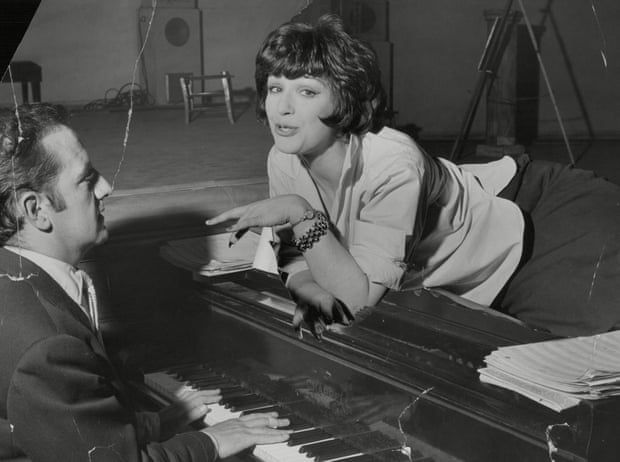 Fenella Fielding with Sandy Wilson in rehearsals for his 1958 musical Valmouth. Photograph: George Elam/ANL/Rex/Shutterstock