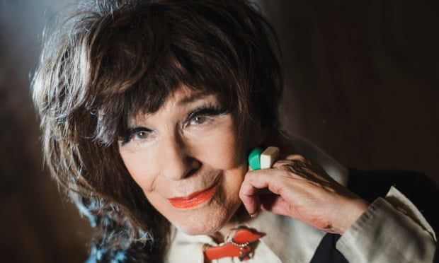 Fenella Fielding in 2017; she carried on working past her 90th birthday. Photograph: Sarah Lee for the Guardian