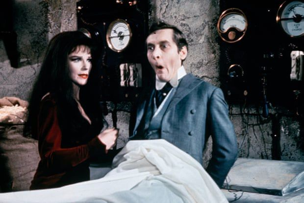 Fenella Fielding as Valeria, a vampire, and Kenneth Williams in Carry on Screaming, 1966. Photograph: Rex/Shutterstock