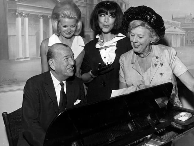 Fenella Fielding, second from right, with her co-stars, Jan Waters and Cicely Courtneidge, in High Spirits, a musical comedy based on Noël Coward's play Blithe Spirit, at the piano with the author, 1964. Photograph: Moore/Getty Images