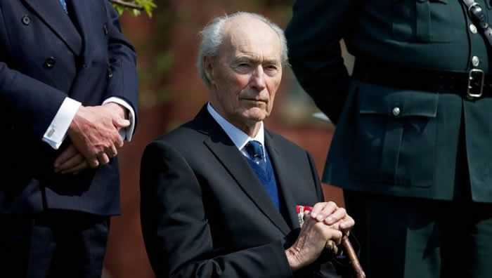 Joachim Rønneberg, photographié lors d'une cérémonie en son honneur à Londres, en 2013. | ANDREW COWIE / AFP