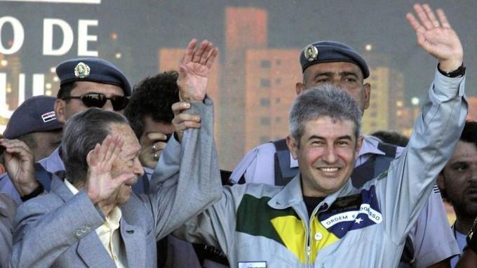 Marcos Pontes a passé une semaine dans la Station spatiale internationale en 2006. Paulo Whitaker/X00921