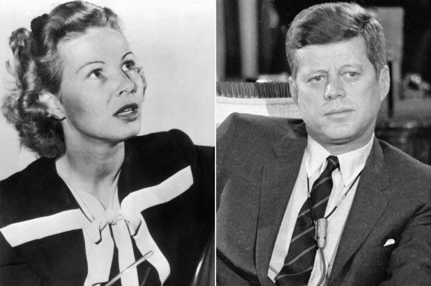 Inga Arvad (left) and John F. Kennedy Getty Images