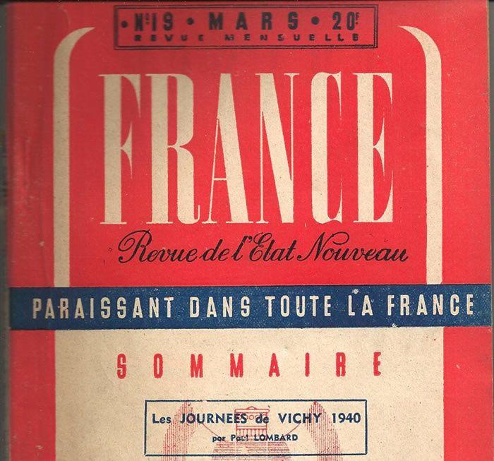 France, revue de l'État nouveau