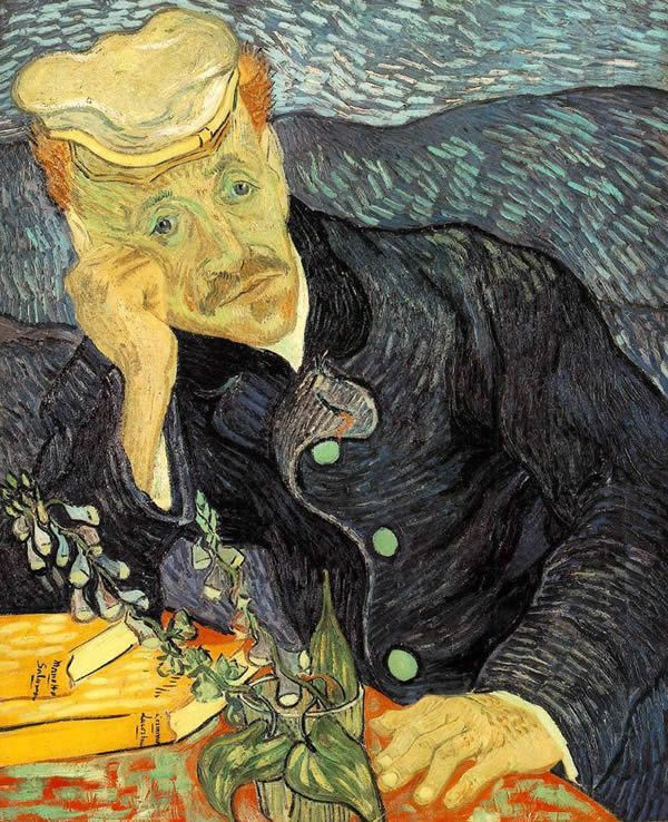 Portrait of Dr. Gachet by Vincent van Gogh, 1890. First version. Private collection. One of the works sold by Angerer for Göring.