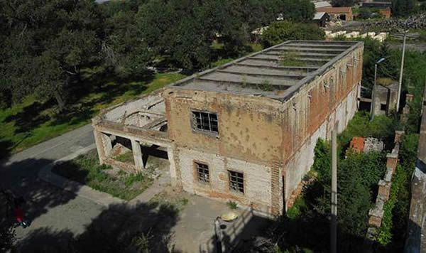 A disused building at Unit 731 in China
