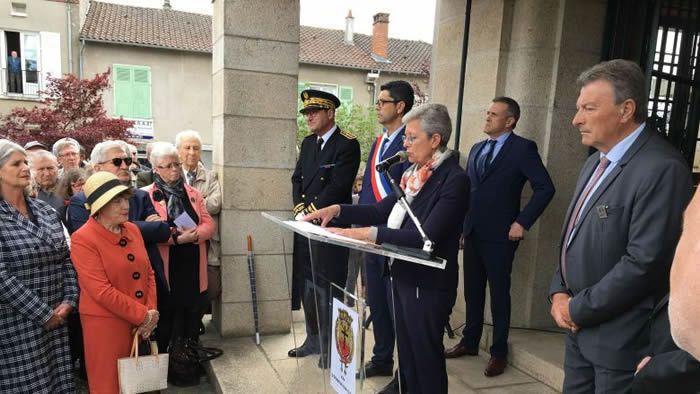 Geneviève Darrieussecq, Secrétaire d'État auprès de la ministre des Armées. Oradour-sur-Glane, le 10 juin 2019. / Christophe Bodin - France 3 Limousin