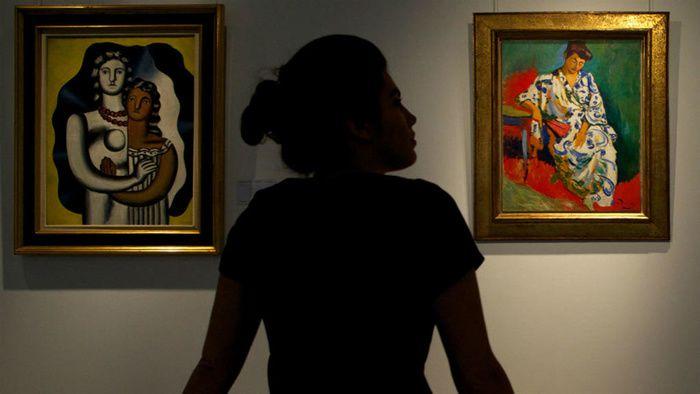 """""""Madame Matisse au Kimono"""" d'André Derain chez Christie's, le 4 avril 2013. Andrew Cowie, AFP"""