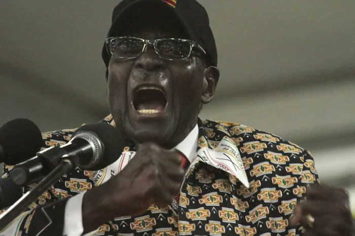 A charismatic orator, Mugabe was known for giving rousing speeches full of often controversial rhetoric. In one address to the UN in 2015, he railed against 'attempts to prescribe new rights which are contrary to our values, norms, traditions and beliefs' and then promptly blurted out: 'We are not gays.' (Tsvangirayi Mukwazhi/Associated Press)