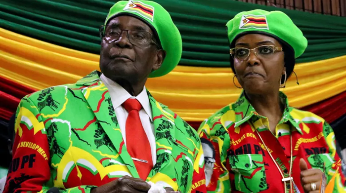 Mugabe, left, is pictured alongside his wife, Grace Mugabe, in Harare in 2017, just weeks before his decades-long reign came to an end. (Philimon Bulawayo/Reuters)