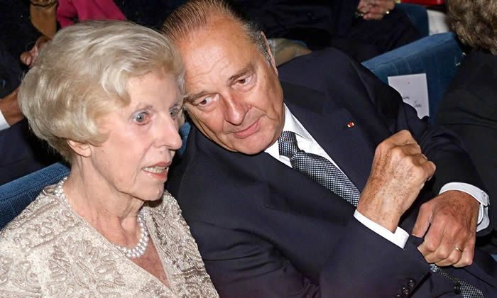 Chirac with Claude Pompidou, widow of Georges Pompidou, in September 1999. Photograph: EPA