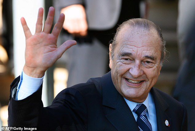 Former French President Jacques Chirac (pictured in 2007, the year he left office) died at the age of 86 'surrounded by his family', his son-in-law revealed yesterday