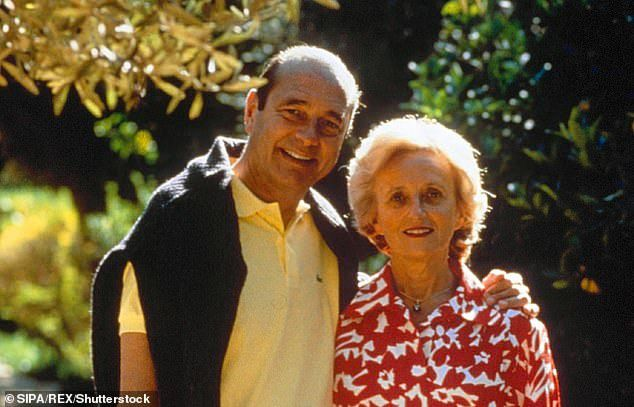 Jacques and Bernadette Chirac on holiday in 1995, the year he was elected President of France