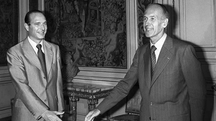 Valéry Giscard d'Estaing et Jacques Chirac