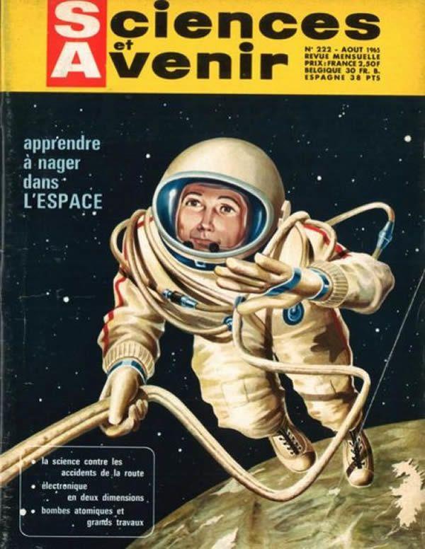 Couverture du n°222 de Sciences et Avenir consacré à Alexeï Leonov Sciences et Avenir
