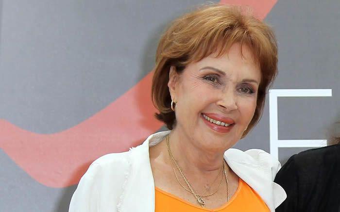 Pascale Roberts en juin 2012 au Festival de télévision de Monte-Carlo.  AFP/Valéry Hache