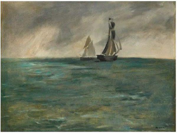 """""""Marine, temps d'orage"""" (1873) d'Edouard Manet"""