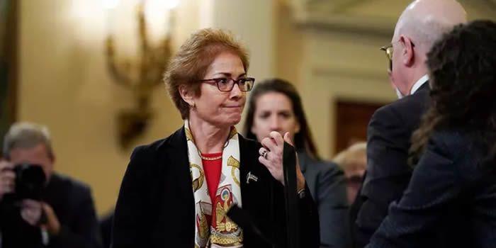 Marie Yovanovitch, ex-ambassadrice américaine en Ukraine, s'est dite vendredi intimidée par Donald Trump. (Reuters)