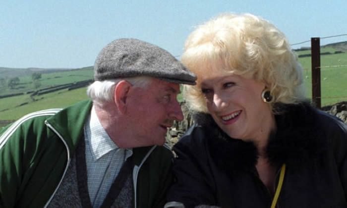 Jean Fergusson as Marina and Robert Fyfe as Howard Sibshaw in Last of the Summer Wine. 'They were looking for a blowsy blonde,' said Fergusson. Photograph: BBC/PA