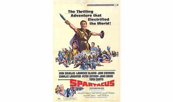 """Universal Pictures Kirk Douglas a été le producteur exécutif du """"Spartacus"""" de Stanley Kubrick en 1960, pour lequel Dalton Trumbo a écrit le scénario."""