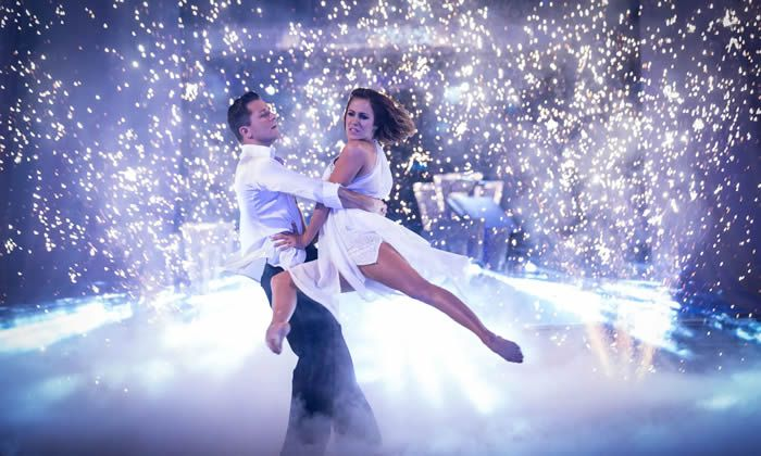 Caroline Flack and Pasha Kovalev in Strictly Come Dancing, 2014. Photograph: Guy Levy/BBC/PA