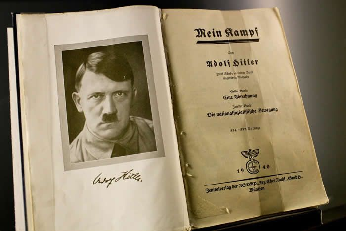 """""""Mein Kampf"""" was first banned by Amazon and then reinstated.Credit...Russ Juskalian for The New York Times"""