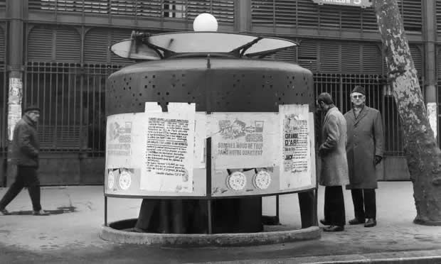 Esoteric subcultures … a urinal at Les Halles, 1969, which appears in Les Tasses. Photograph: Archives of the Paris Police