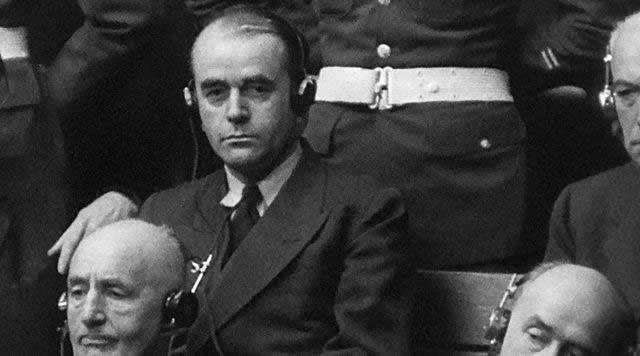 Albert Speer lors des procès de Nuremberg, 1946