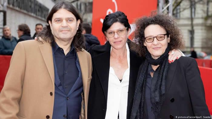 Vanessa Lapa (center) premiered 'Speer Goes to Hollywood' at the 70th Berlinale