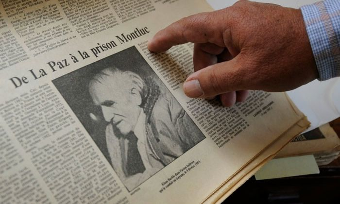 Un journal revient sur l'interpellation de Klaus Barbie. - JORGE BERNAL / AFP