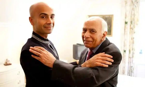 Muhammad Siddique, right, with his son, Haroon, on Haroon's wedding day in 2011. Photograph: Olivia West